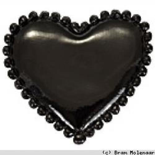 Vinyl hart zwart 35x30mm