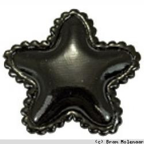 Vinyl ster zwart (8015)