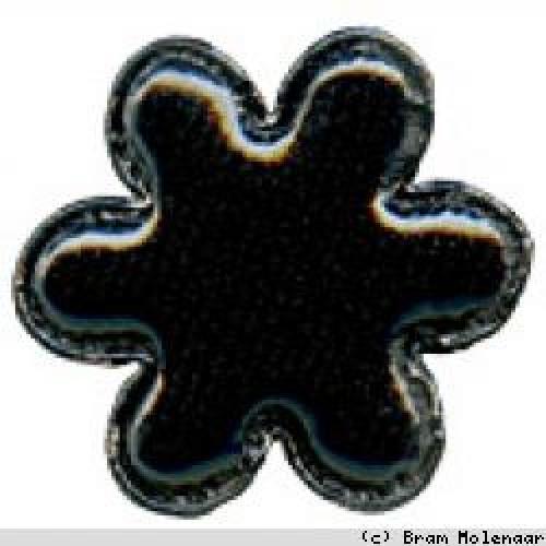 Vinyl bloem zwart (8023)