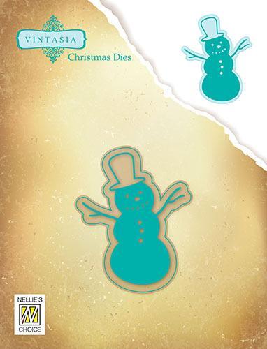 Vintasia Dies Winter time snowman