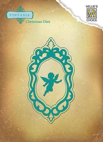 Vintasia Dies Christmas Angel Frame