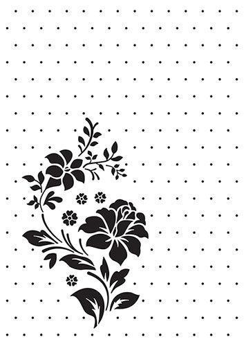 Vintasia Embossing folder Rose Ornament