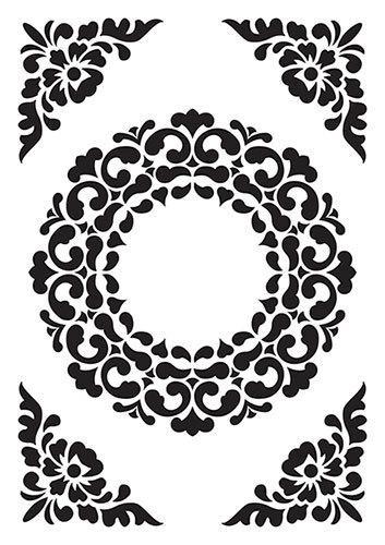 Vintasia Embossing folder Ornament Frame