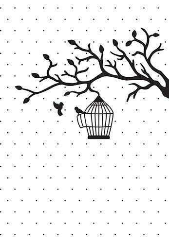 Vintasia Embossing folder Bird love