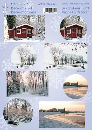 Kerst 3D knipvellen - Winter foto knipvel