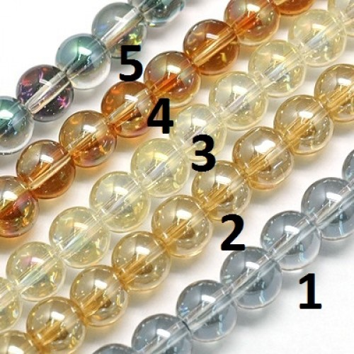 Nr. 4 Electroplate Glas kralen 6mm 10 stuks