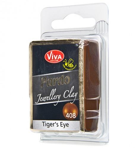 Pardo klei Tiger oog nr. 408 56gr