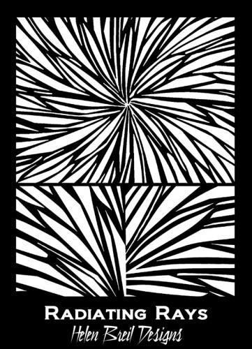 Helen Breil silkscreen Radiating Rays