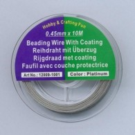 Staaldraad nyl.coat zilverkleur 0,45 mm 10 MT 12009-1001 - #123477
